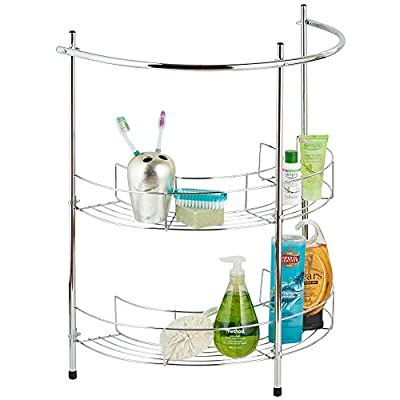 VonHaus 2 Tier Chrome Bathroom Under Basin Sink Storage Shelf Rack & Towel Rail Free 2 Year Warranty