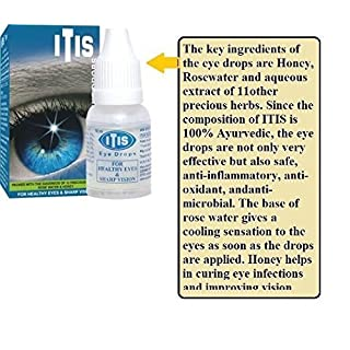 Artcollectibles India 3 Packs Of Itis Herbal Eye Drops Wit Rosewater Ozone100%hebal Ayurvedic Healthy Eyes Vision