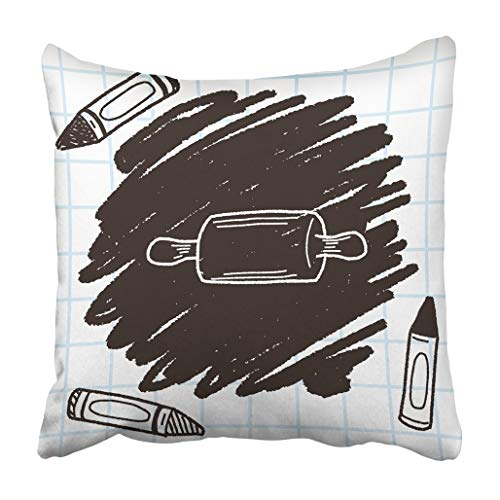 wenyige8216 Bakery Rolling Pin Doodle Dough Baker Cooking Creative Drawing Drawn Equipment Throw Pillow Case Cushion Covers 18x18 Rolling Pin Bakery