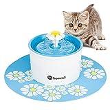 Hommii Fontaine à Fleurs Automatique avec Filtre à Charbon pour Animal Domestique Bleu/Vert/Orange