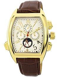 Burgmeister Sao Paulo BM131-285 - Reloj de caballero automático, correa de piel color marrón