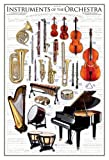 empireposter - Educational - Bildung - Instruments of the Orchestra Musikinstrumente  - Größe (cm), ca. 61x91,5 - Poster, NEU - Version in Englisch