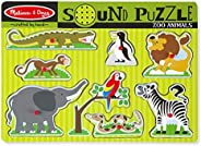 Melissa & Doug Zoo Animals Sound Wooden Puzzle Pieces of 8, Multi-Colour, M