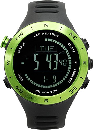 [LAD WEATHER] Multifunctional Watch Altimeter/ Barometer/ Compass/ Heart Rate Monitor/ Weather Forecast for Sports/ Outdoor/ Fitness