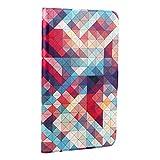 MOONCASE Huawei MediaPad T1/Honor T1 7.0 Custodia, Custodie Morbide TPU Antigraffio Antiurto Protettive [Colorful Painting] Slim Fit Flip Cover per Tablet PC Huawei MediaPad T1 7.0