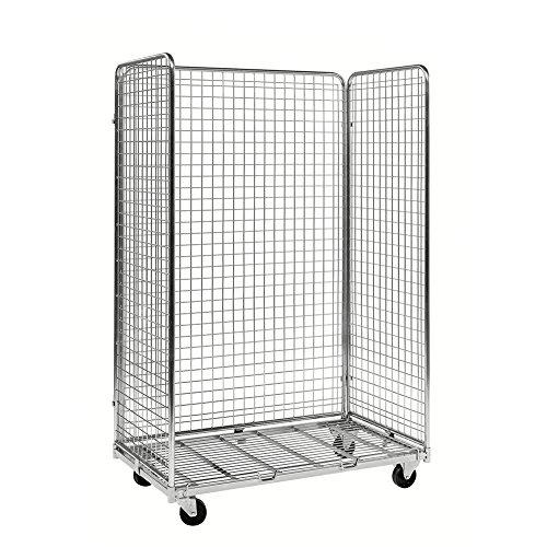 Gitterrollwagen mit 3 Seiten 1.150 x 665 x 1.790 mm, Traglast: 400 kg - verzinkt (Rollwagen Gitter)