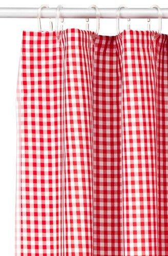 Duschvorhang Ikea ikea duschvorhang margareta rot weiß kariert duschvorhang finder de