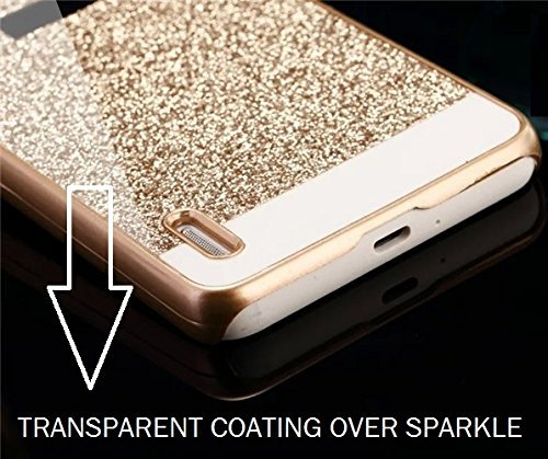 pretty nice 3b39d 48254 RIdhaniyaa [Redmi 3S Prime] Glittering Sparkle Hard Back Cover -  (Gold,Transparent)