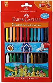 Faber-Castell Grip Erasable Crayon Set - Pack of 24 (Assorted)