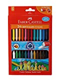 #7: Faber-Castell Grip Erasable Crayon Set - Pack of 24 (Assorted)