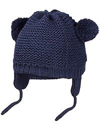 HBselect Cappello Neonato a Maglia Cappello Invernale Bambino con Pompon e  Paraorecchie Berreto Bimbo Regolabile 8d02c794eae4