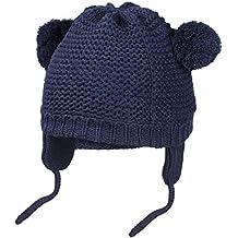 HBselect Cappello Neonato a Maglia Cappello Invernale Bambino con Pompon e  Paraorecchie Berreto Bimbo Regolabile 091bdd0bc409