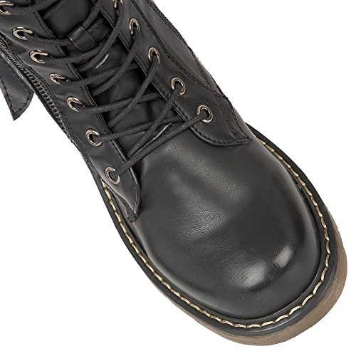 Dolcis  Jasper,  Damen Combat Boots Schwarz