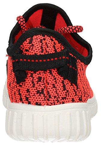 Rosa Femme Creepers Sandales Tissu Robe formateurs Chaussures de Course à Pied Gym Fitness Sport Pompes–Générique Rose