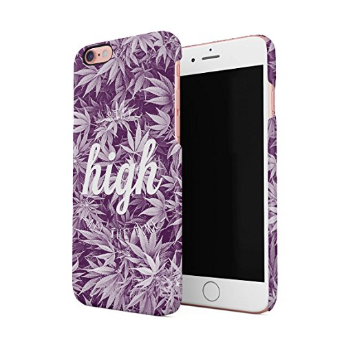 Trippy Faded Stay High All The Time Dünne Rückschale aus Hartplastik für iPhone 6 Plus & iPhone 6s Plus Handy Hülle Schutzhülle Slim Fit Case Cover