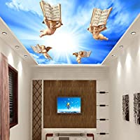 Lqwx 3D Estéreo Iglesia Europea Techo Mural Salón Dormitorio Hotel 3D Papel Tapiz Papel Tapiz Floral Para Paredes 3 D-400cmX280cm