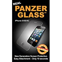 PanzerGlass PG1010 - Protector de pantalla para Apple iPhone 5/5s/5c, transparente
