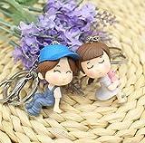 Romeo y Julieta llavero para parejas Juego de gran calidad, color azul y gris
