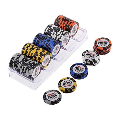 Generic 100pcs 14g Clay Poker Casino Chips for Mahjong amp; Texas Poker amp; HoldEm Poker