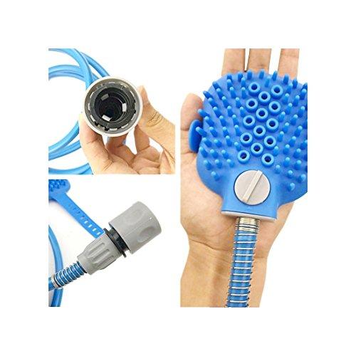 Haustier-Badesprayer, PurpleSalt® - Haustier Hundekatzen-Pflegebürste mit Massagewäscherreinigungswerkzeuge für Haustierwaschmaschine Innenaußengebrauch 2.5m
