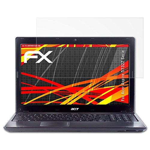 atFolix Schutzfolie kompatibel mit Acer Aspire 5732Z Serie Displayschutzfolie, HD-Entspiegelung FX Folie (2X) (Aspire Laptop Acer 5732z)