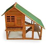 Cabane pour petits rongeurs XXL Clapier Cage à lapin avec enclos, en bois.