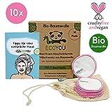 EcoYou® Abschminkpads Waschbar BIO-Baumwolle 10