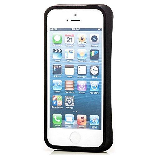 Saxonia Apple iPhone 5 5S SE Hülle Case Schutzhülle | Motiv: Kroko violett Kub-Rub 5