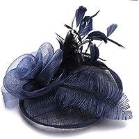 zZZ El Estilo Occidental Banquetes Sombrero del Partido De Vacaciones Cordón De La Flor Que Modela El Sombrero De Lino De Fondo, Gasas, Plumas De Avestruz Pelo Sombrero De Las Señoras Comodidad.