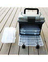 Forfar 5 couche Big Boîte de pêche Pêche S'attaquer à rangementPlomberie Case Box avec poignée 27 * 17 * 26cm extérieur