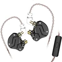 KZ ZSN Hifi In Ear Monitor Yinyoo KZ écouteurs avec micro 1DD + 1BA Dual Drivers Ecouteur intra-auriculaire pour tous…