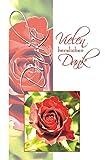 50 Dankeskarten Danke Klappkarten mit 50 Umschlägen Grußkarten Glückwunschkarten Karten Hüllen Blumen 410-3053