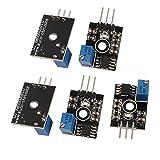 sourcingmap® 5 Pcs NE555 Verstellbare Häufigkeit Puls Generator impulsierenden Module Platine