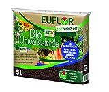 Euflor 5 L Sack Bio Universalerde torfreduziert mit Vitalorganismen, fördert die Bodenaktivität und Nährstoffverfügbarkeit