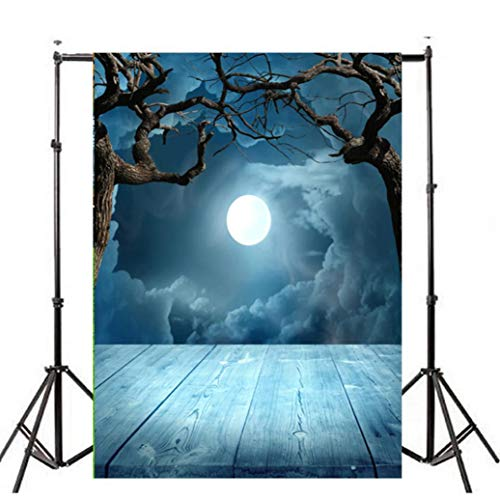ween Backdrops Kürbis Vinyl 3x5FT Laterne Hintergrund Home Bar Clubbing Fotografie Studio ()