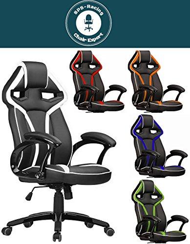 SPS Gaming Racing Master Fauteuil de bureau Chaise de bureau pivotante Office Chair