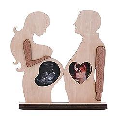 Idea Regalo - Giftgarden Cornici per Foto in Legno per Immagine Ecografia Cornice Doppia per Baby