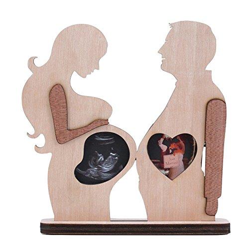 Giftgarden Baby Bilderrahmen aus Holz für Ultraschallbild und Liebespaarfoto