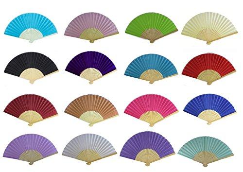 Seda Tejido de seda ventiladores, 10 unidades Wholesale mano Fan de bambú...