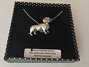 D12 Dachshund PENDENT REAL 925 sterling silver Necklace Handmade 18 inch chain with prideindetails gift box
