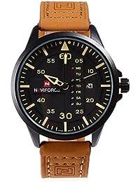 Leopard Shop naviforce nf9074m macho Reloj de cuarzo Día Fecha Pantalla Resistencia al agua pu banda reloj de pulsera