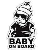 Baby on Board Aufkleber 18x10cm Auto Sticker -Finest Folia Autoaufkleber
