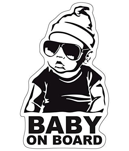 Baby on Board Aufkleber 18x11cm Auto Sticker -Finest Folia Autoaufkleber UV- Wetterfest Wasserfest Hangover (Junge, Baby on Board)