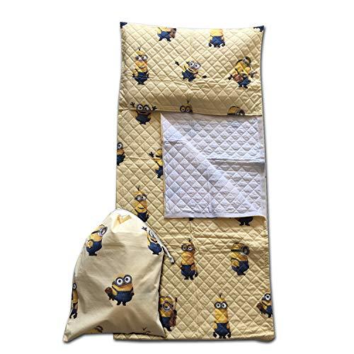 Set asilo - disney - minions giallo - sacco nanna + sacchetto asilo - per bimbi da 2 a 6 anni