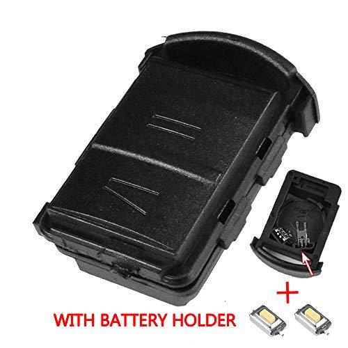 Xukey - Guscio a 2 pulsanti per ricambio chiave telecomando auto Opel/Vauxhall Agila / Combo / Corsa / Meriva Tigra, kit di riparazione chiave con microinterrutto