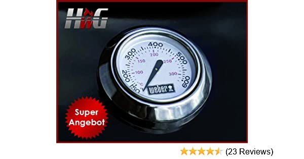 Weber Elektrogrill Thermometer : Thermometer mit rosette: amazon.de: garten