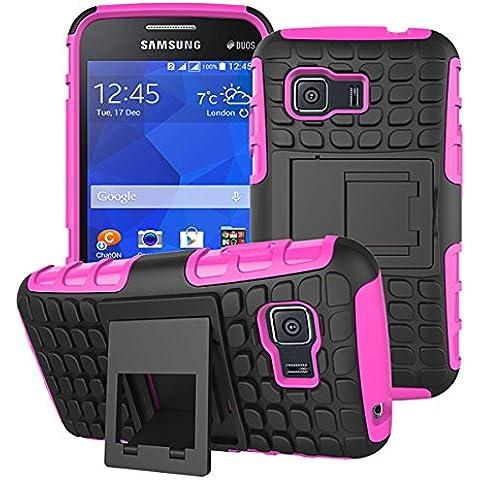 Beiuns para Samsung Galaxy Young 2 (3,5 pulgadas,2014) Funda de Protección Hibrida Carcasa - HH507 rosa