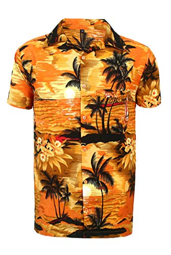 bee6f407b Mens Hawaiian Shirt STAG Beach Hawaii Aloha Party Summer Holiday Fancy BP (L,  O