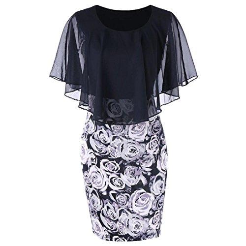 Kanpola Kleider Damen Kleider,Kanpola Frauen Fledermaus Femd Kleid Ballkleid Retro Rockabilly...