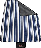 normani Outdoor Picknickdecke Campingdecke mit Tragegriff wasserdicht Farbe Blau gestreift